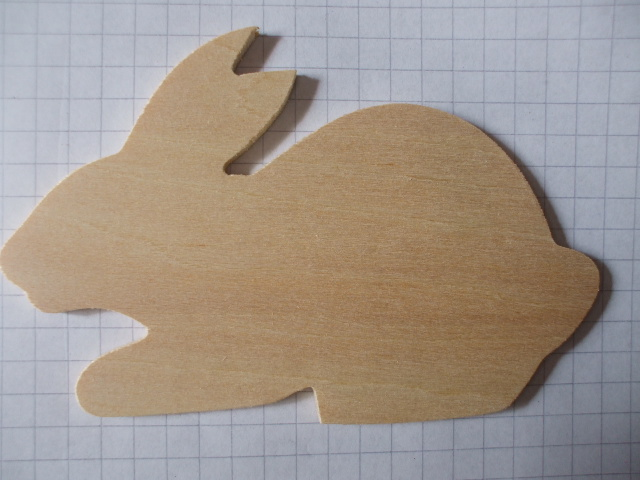 Birch ply wooden rabbit wood craft shape for Wood circles for crafts