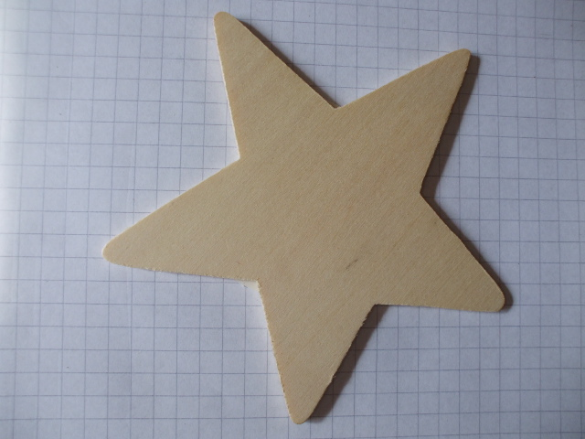 birch ply wooden star wood craft shape